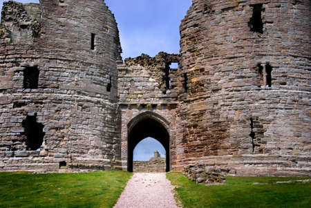 View of Dunstanburgh Castle, Northumberland, England