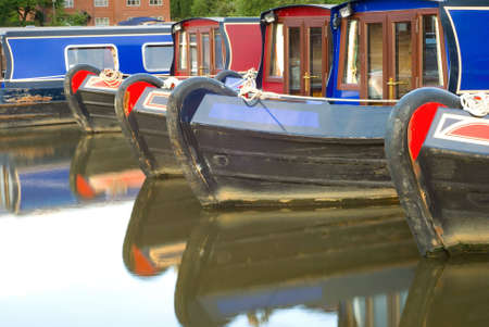 Canal boats at Etruria, Stoke-on-Trent Stock Photo