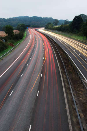 White and red light trails from long exposure photo off M6