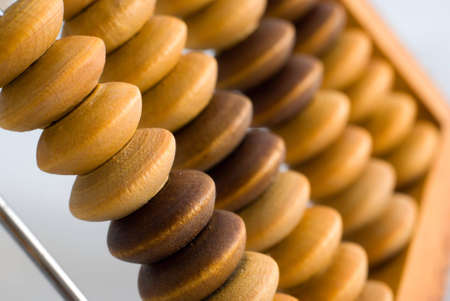 Near-macro shot of old abacus Stock Photo