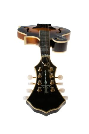 mandolin: Bluegrass Mandolin Isolated on White background