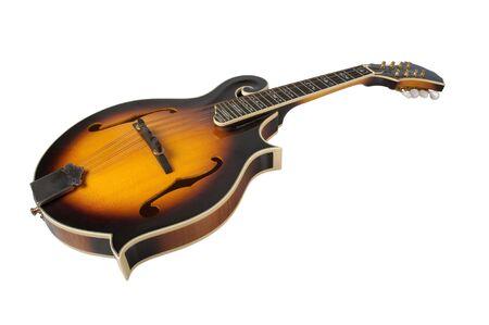 mandolin: Bluegrass Mandolin Isolated on White background