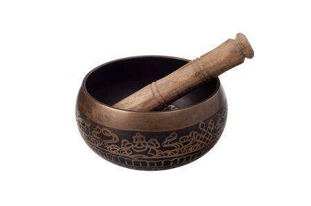 singing bowl: Ciotola di canto di bronzo tibetano