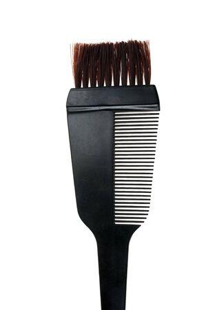 tinte de cabello: Pincel de Dye de pelo aislado en fondo blanco Foto de archivo