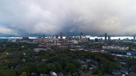 Stormy Atlanta Skyline