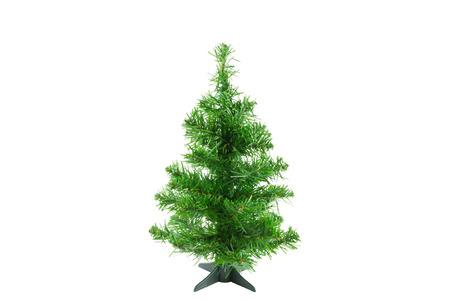 fake christmas tree: Original Christmas tree on white background  Christmas tree for decoration