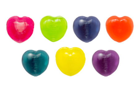 Many Color of Heart Candy Include Red, Green, Blue, Orange, Turquoise, Yellow and Purple Stock Photo - 24933288