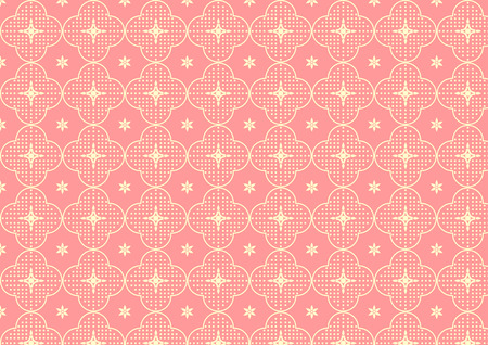 Sakura flower japan style on light pink pastel color with small flower Vector