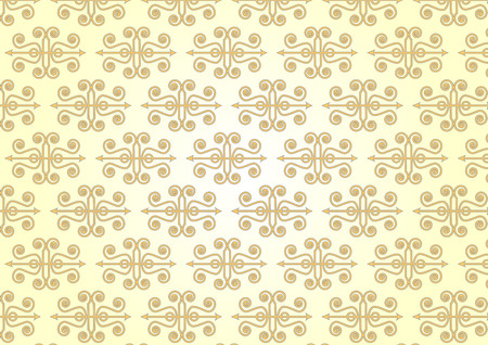 Vintage seamless pattern style on light yellow color background Illustration