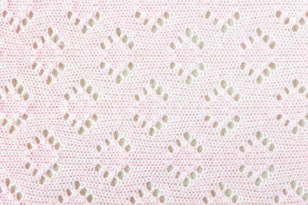 weft: Pink crochet weft texture background. Vintage pattern style for love or sweet design.