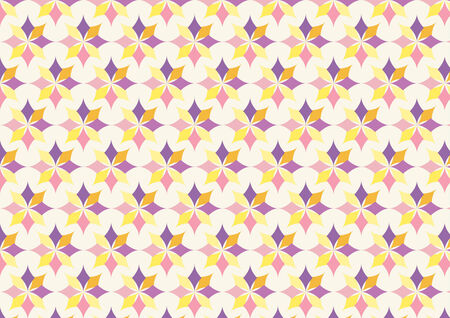 flower age: Modern classic flower pattern on pastel color. Classic style for retro age. Illustration