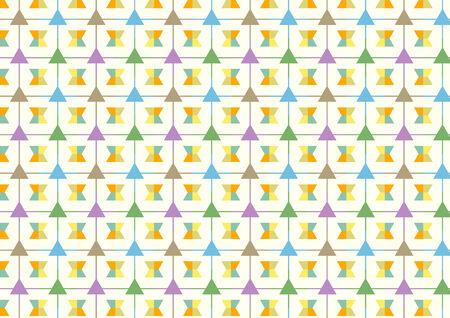 trapezoid: Trapecio y l�nea y tri�ngulo patr�n sobre fondo amarillo claro. Resumen tri�ngulo y estilo de l�nea para el dise�o.