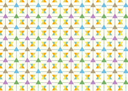 trapezoid: Trapezoid and line and triangle pattern on light yellow background. Abstract triangle and line style for design.