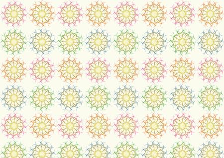 muddle: Four muddle ball pattern on pastel color. Abstract tangle ball on pastel color. Illustration