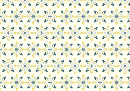 novel: Modern yellow flower pattern in boomerang shape on light yellow background. Novel blossom pattern in sweet style for love or cute design