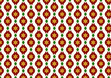 l�bulo: Oscuro flor roja vintage y hojas y patr�n l�bulo en fondo amarillo claro. Floraci�n Modelo incons�til del estilo cl�sico para el dise�o viejo o antiguo trabajo