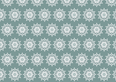 Silver vintage flower and modern shape and lobe pattern on pastel background. Classic blossom pattern style for old and ancient design
