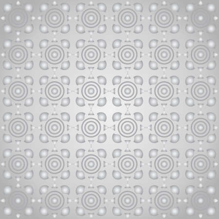 Silver sweet circle and curve cup and small triangle pattern on pastel color. Abstract and vintage seamless pattern style for cute or modern design Vector