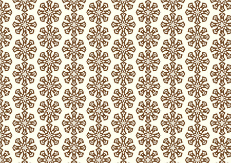 bloom: Brown Vintage or old blossom and leaves pattern on pastel background. Classic bloom pattern style for design