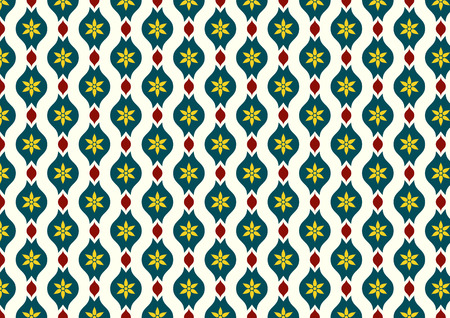 lobe: Dark green vintage blossom and leaves and lobe pattern on light yellow background. Classic bloom seamless pattern style for old design or ancient work
