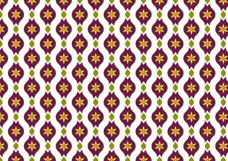 l�bulo: Oscuro flor p�rpura vintage y hojas y patr�n l�bulo en fondo amarillo claro. Floraci�n Modelo incons�til del estilo cl�sico para el dise�o viejo o antiguo trabajo