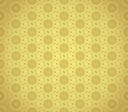 gold swirl: Gold swirl or spiral and circle pattern on pastel background. Vintage and sweet seamless pattern for retro or classic design