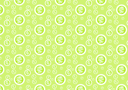 Green circle and line art pattern on pastel background. Sweet and pretty circle style for lovely or cute design. Stock Illustratie