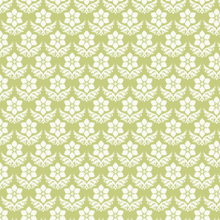 bloom: Light green vintage bloom pattern on pastel background. Retro and classic blossom pattern style for old or sweet design Illustration