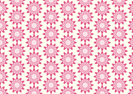 bloom: Pink sweet blossom pattern on pastel background. Abstract bloom pattern style for cute or modern design Illustration