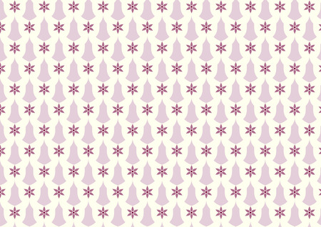 sconce: Violet vintage blossom and candlestick pattern on pastel background. Classic bloom and sconce pattern style for retro or old design