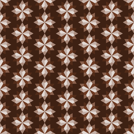 feature: Brown modern rhomboid or star seamless pattern in abstract feature. Graphic pattern in fashionable style for graphic or geometry design