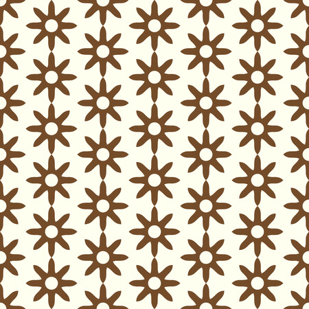 dry flower: Brown dry flower pattern in classic style on pastel background. Retro and ancient blossom seamless pattern style for modern or classic design
