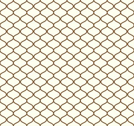 Brown Sweet mesh naadloos patroon op pastel achtergrond. Vintage netto patroon voor retro en grafisch ontwerp. Vector Illustratie