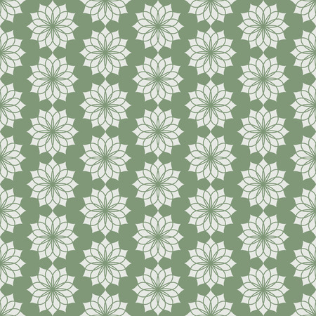 bloom: Dark green classic jasmine bloom seamless pattern. Vintage jasmine blossom for old or retro design