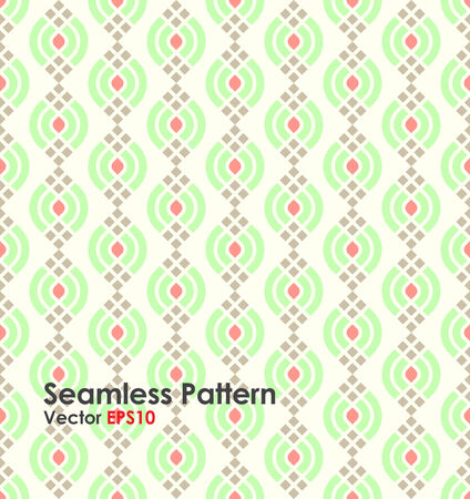 corbel: Green Modern lotus shape seamless pattern on pastel background. Abstract pattern for graphic design and vintage style. Illustration