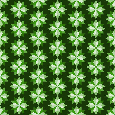 adamant: Green modern rhomboid or star seamless pattern in abstract feature. Graphic pattern in fashionable style for graphic or geometry design