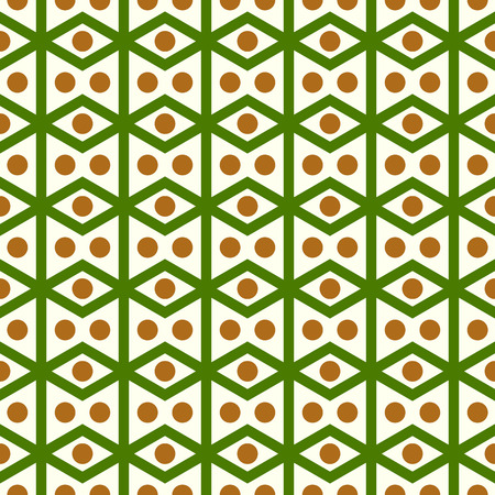 parallelogram: Green rhombohedron or parallelogram pattern on pastel background. Retro rhomboid and circle seamless pattern style for classic or modern design