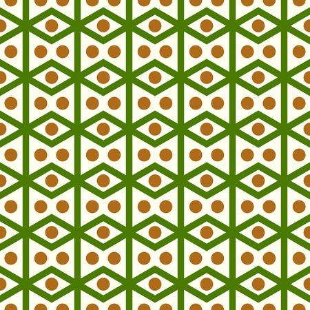 parallelogram: Romboedro verde o patr�n paralelogramo en el fondo en colores pastel. Romboide retro y c�rculo Modelo incons�til del estilo de dise�o cl�sico o moderno Vectores