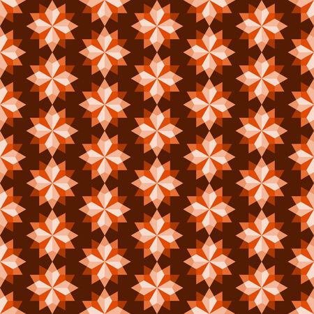 feature: Orange modern rhomboid or star seamless pattern in abstract feature. Graphic pattern in fashionable style for graphic or geometry design Illustration