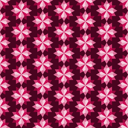 feature: Red modern rhomboid or star seamless pattern in abstract feature. Graphic pattern in fashionable style for graphic or geometry design