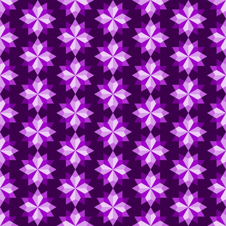 Purple modern rhomboid or star seamless pattern in abstract feature. Graphic pattern in fashionable style for graphic or geometry design
