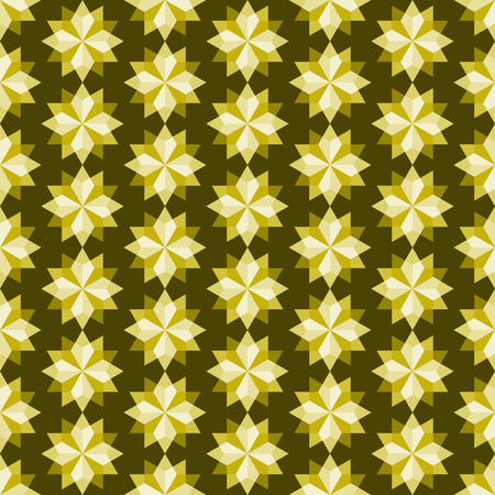 feature: Yellow modern rhomboid or star seamless pattern in abstract feature. Graphic pattern in fashionable style for graphic or geometry design