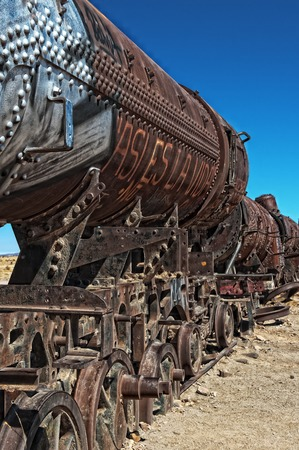 derail: Railway wreck Stock Photo