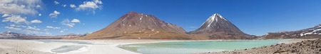 bolivian: anorama of Laguna Verde on the Altiplano of Bolivian Andes Stock Photo