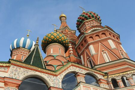 confessor: View at the colorful Basilius Cathedral near Red Square in Moscow