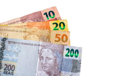 Brazilian money two hundred real bill