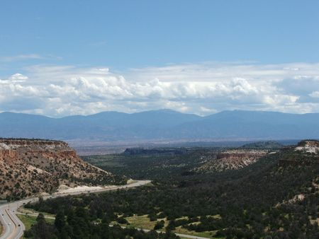 Peering Across Espanola Valley