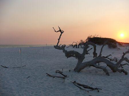 desertion: Sunset Desertion Stock Photo