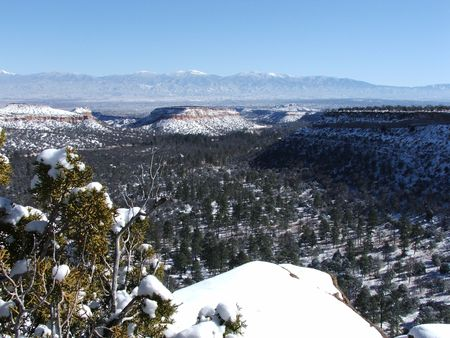 The View from Pueblo Canyon Stock Photo