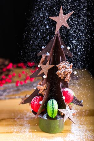 Chocolate & Macaron Christmas Tree